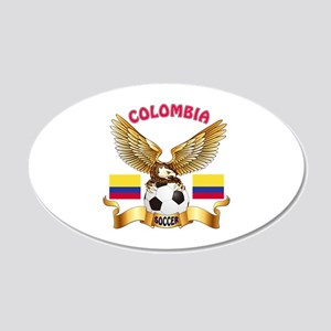 Colombia Football Design 20x12 Oval Wall Decal