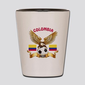 Colombia Football Design Shot Glass