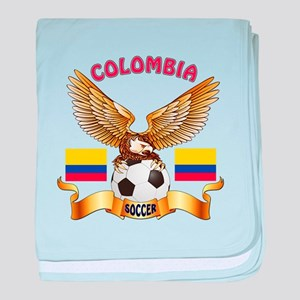 Colombia Football Design baby blanket