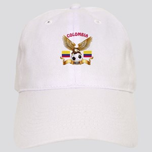 Colombia Football Design Cap