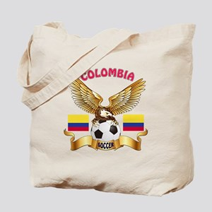 Colombia Football Design Tote Bag