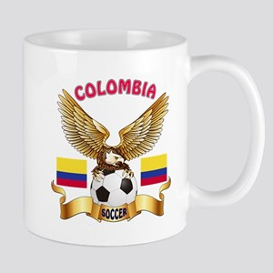 Colombia Football Design Mug