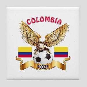Colombia Football Design Tile Coaster