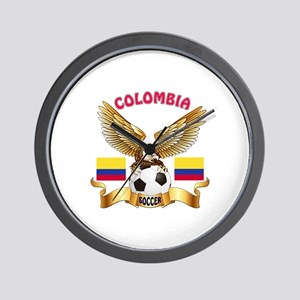 Colombia Football Design Wall Clock