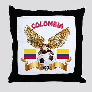 Colombia Football Design Throw Pillow