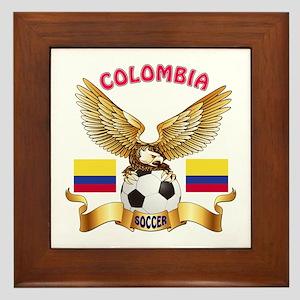 Colombia Football Design Framed Tile