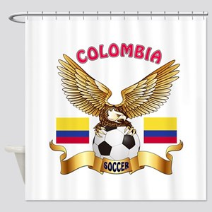 Colombia Football Design Shower Curtain