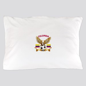 Colombia Football Design Pillow Case