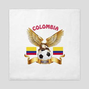 Colombia Football Design Queen Duvet