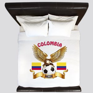 Colombia Football Design King Duvet