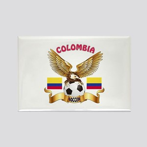 Colombia Football Design Rectangle Magnet