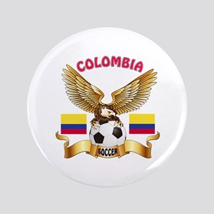 "Colombia Football Design 3.5"" Button"