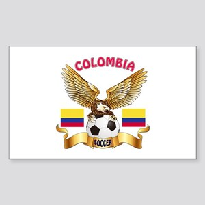 Colombia Football Design Sticker (Rectangle)