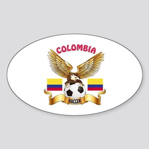 Colombia Football Design Sticker (Oval)