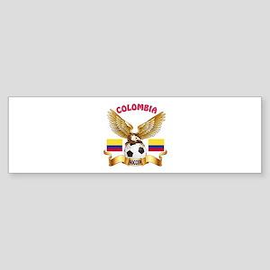 Colombia Football Design Sticker (Bumper)