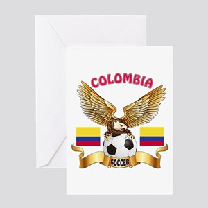 Colombia Football Design Greeting Card