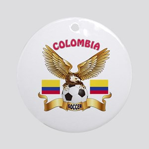 Colombia Football Design Ornament (Round)