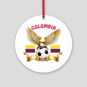 Colombia Football Design Ornament (Round)