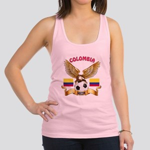 Colombia Football Design Racerback Tank Top