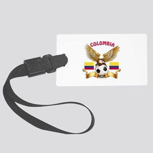 Colombia Football Design Large Luggage Tag