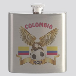 Colombia Football Design Flask