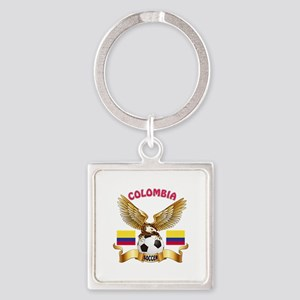 Colombia Football Design Square Keychain