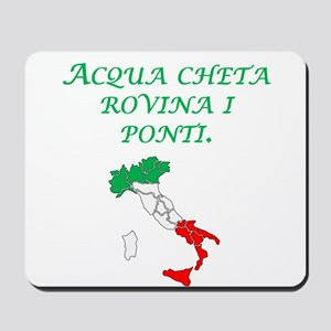 Italian Proverb Silent Waters Mousepad