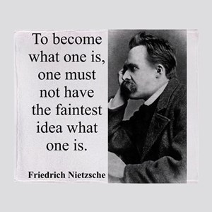 To Become What One Is - Nietzsche Throw Blanket