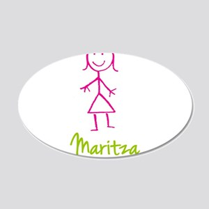 Maritza-cute-stick-girl.png 20x12 Oval Wall Decal