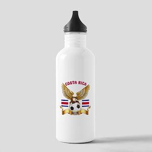 Costa Rica Football Design Stainless Water Bottle