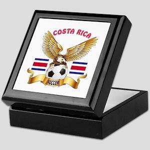 Costa Rica Football Design Keepsake Box