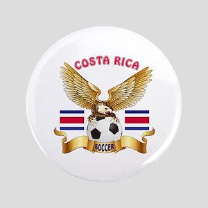 """Costa Rica Football Design 3.5"""" Button"""
