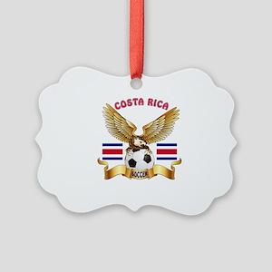 Costa Rica Football Design Picture Ornament