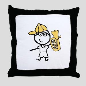 Baritone - Glasses Boy Throw Pillow