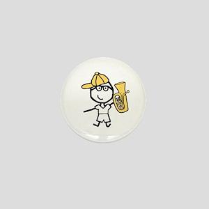 Baritone - Glasses Boy Mini Button