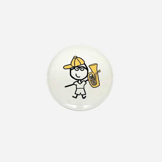 Baritone - Glasses Boy Mini Button