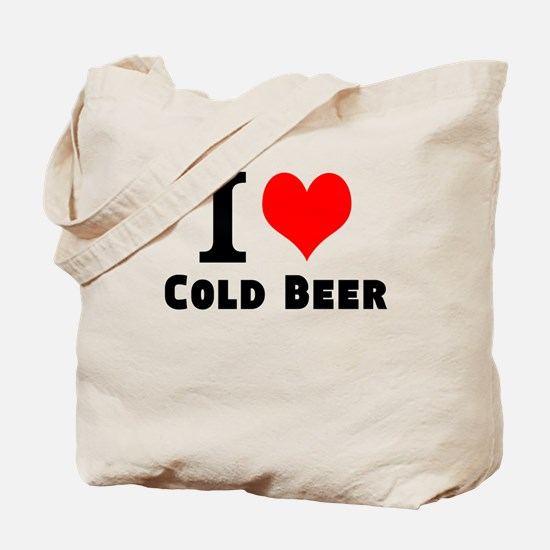 I Love Cold Beer Tote Bag