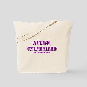 Autism Unlabelled Purple Tote Bag