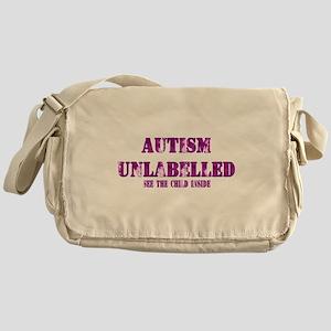 Autism Unlabelled Purple Messenger Bag