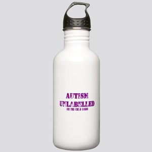 Autism Unlabelled Purple.png Stainless Water Bottl