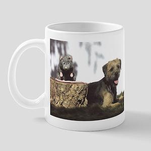 Border Terrier and Rat Mug