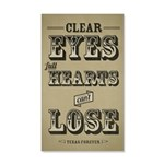Clear Eyes Full Hearts 35x21 Wall Decal