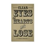 Clear Eyes Full Hearts 20x12 Wall Decal
