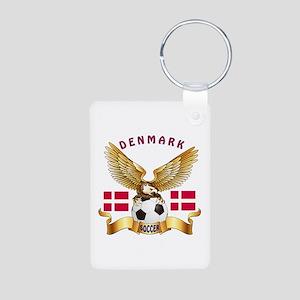 Denmark Football Design Aluminum Photo Keychain