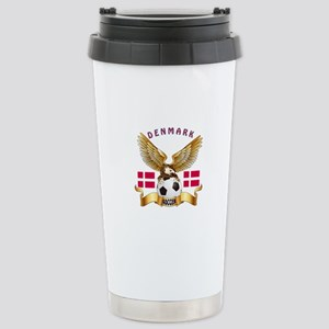 Denmark Football Design Stainless Steel Travel Mug