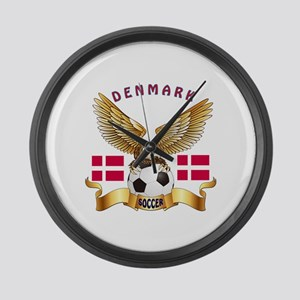 Denmark Football Design Large Wall Clock