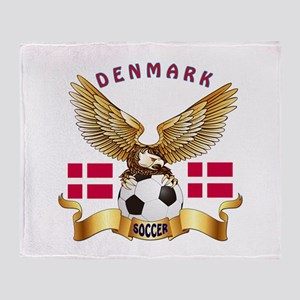 Denmark Football Design Throw Blanket