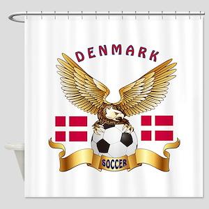 Denmark Football Design Shower Curtain