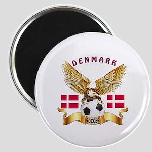 Denmark Football Design Magnet