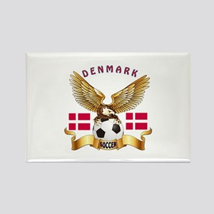 Denmark Football Design Rectangle Magnet